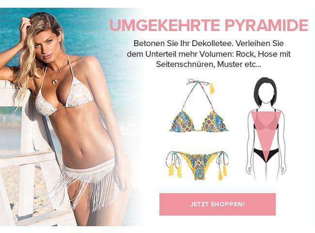 """Bademode für den V-Typ - Figurtyp """"umgekehrtes Dreieck"""""""