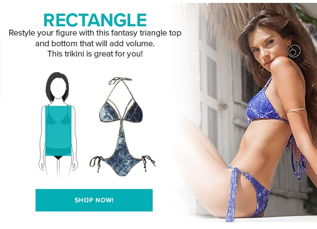 Swimwear rectangle body shape