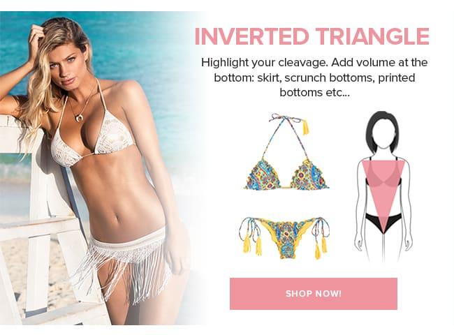 Swimwear for inverted triangle body shape