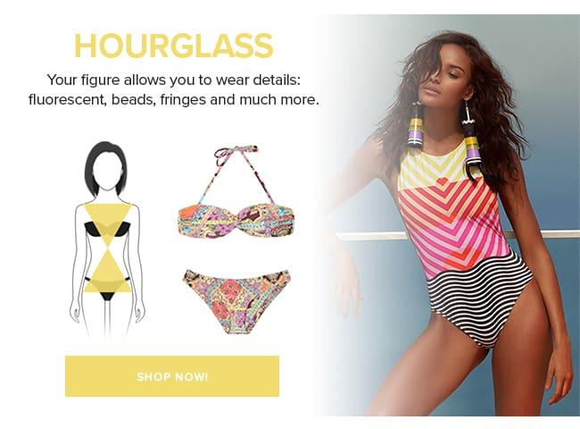 Swimwear hourglass body shape