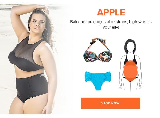Swimwear for round body shape<
