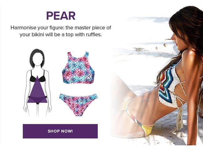 Swimwear for triangle body shape