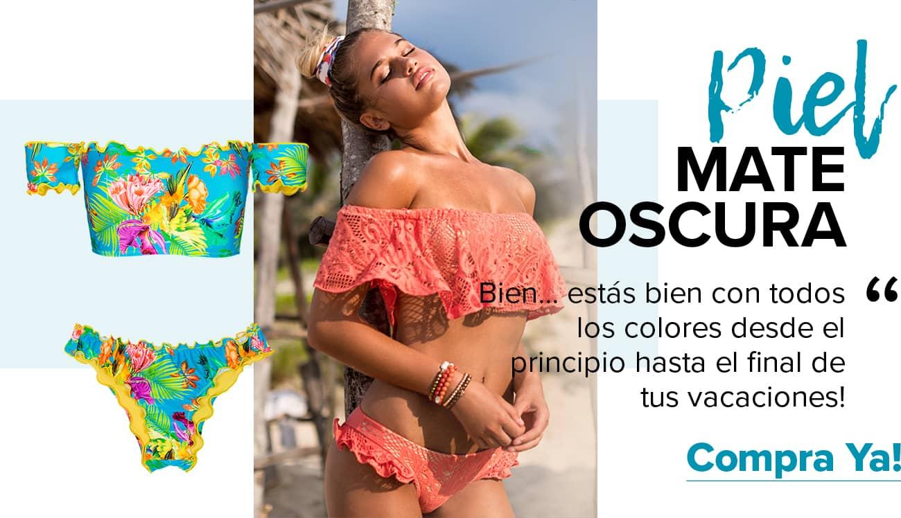 What bikini colorbest suits matt to dark skin?