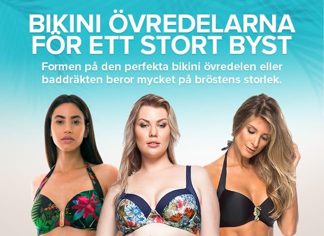 De bästa bikini övredelarna för ett stort byst