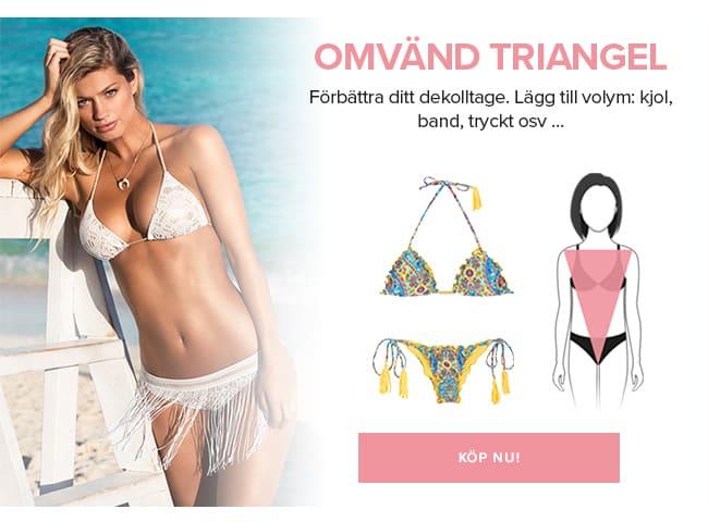 Bästa badkläderna för omvänd, triangelformad kropp