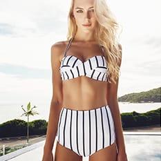 Bikini med hög midja