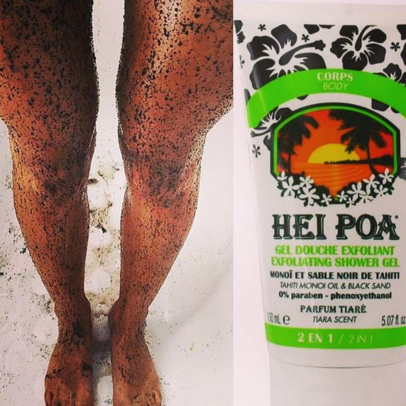 Exfoliating shower gel with monoi and black Tahitian sand - GEL DOUCHE EXFOLIANT AU SABLE NOIR DE TAHITI 150ML