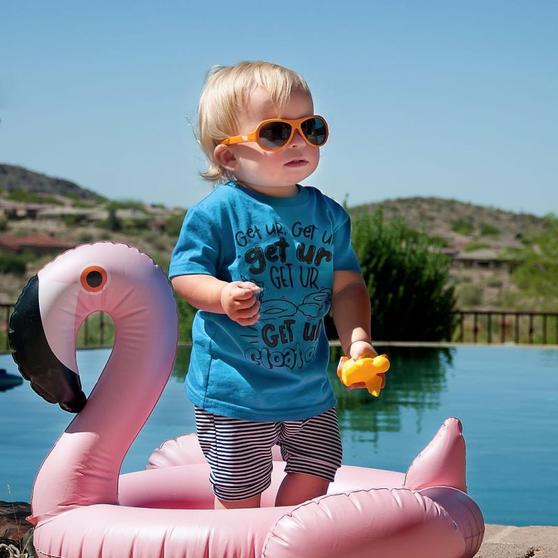 Pink flamingo inflatable float for child aged 3-6 yrs - KIDDY FLAMINGO