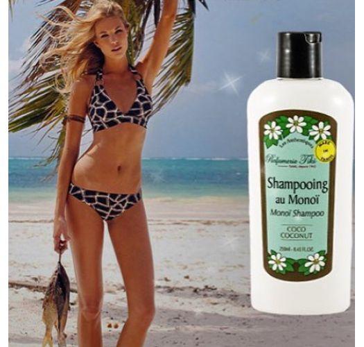 Shampoo med monoïessens og duft af jasminblomster fra Tahiti - SHAMPOOING TIKI AU MONOÏ PITATÉ 250ML