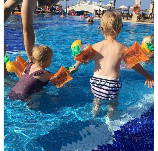 KIDS FLOAT BANDS PINEAPPLE