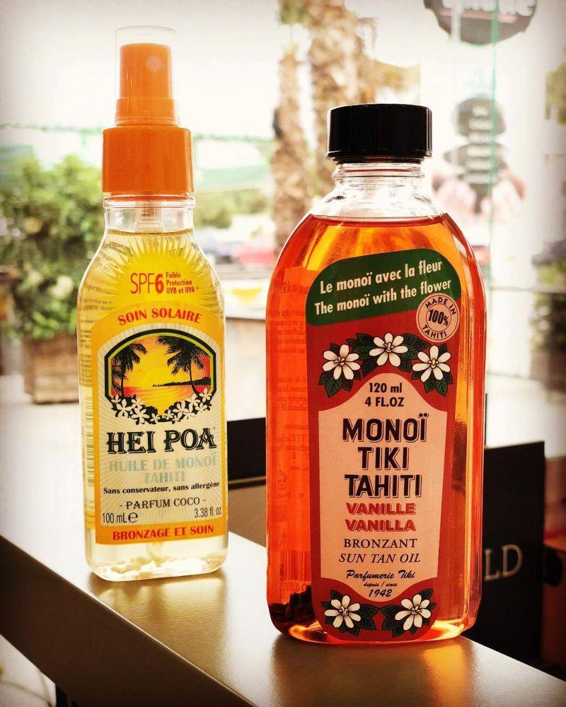 Skönhetsolja (Monoi-olja) från Tahiti, vaniljdoft, SPF3 - MONOI TIKI VANILLE 60ML