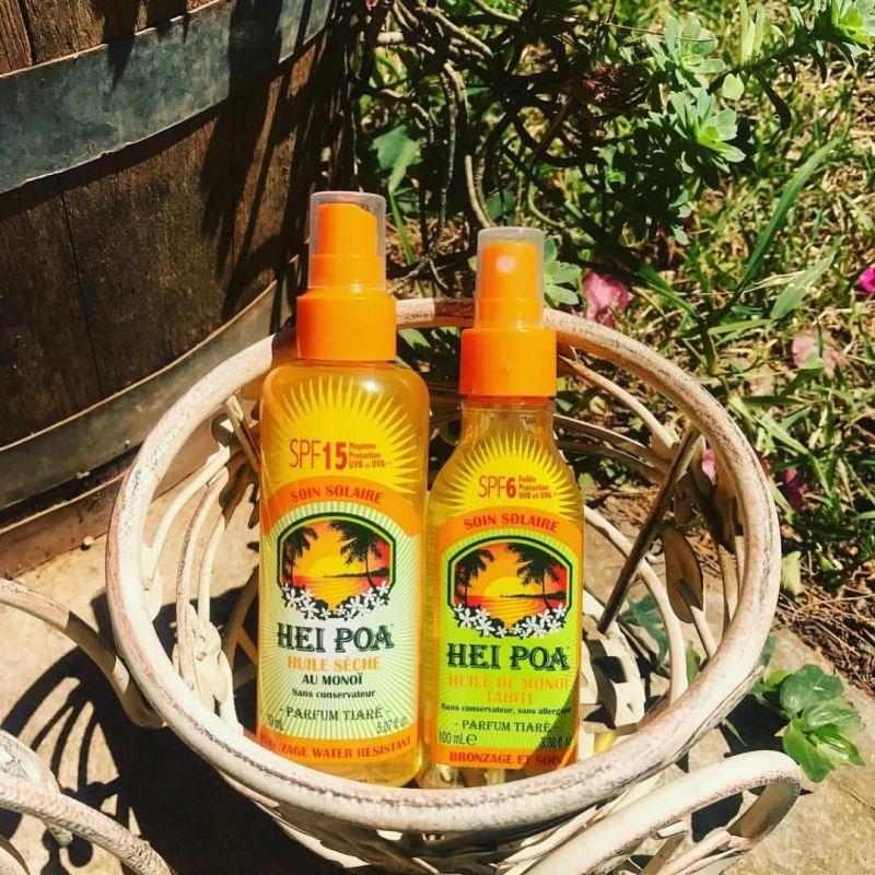 Tahitian monoi oil spray, SPF6 - SPRAY MONOÏ TIARE SPF6 100ML