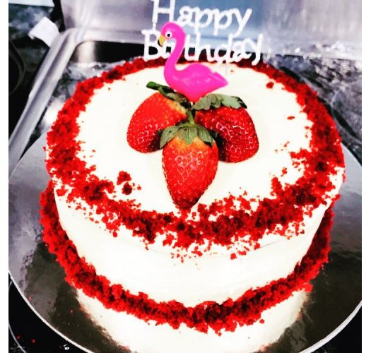 Sæt med 5 stearinlys til kage designet som lyserøde flamingoer - FLAMINGO CAKE CANDLE