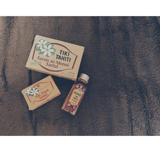 Plant-based soap with monoï and coconut oil, sandalwood fragrance - TIKI SAVON SANTAL 130g