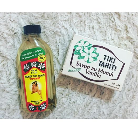 Savon enrichi au monoï, parfum vanille, 130g - SAVON TIKI VANILLE