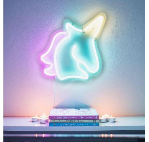 Pieni neonlamppu, yksisarvisen muotoinen - UNICORN NEON LIGHT SMALL
