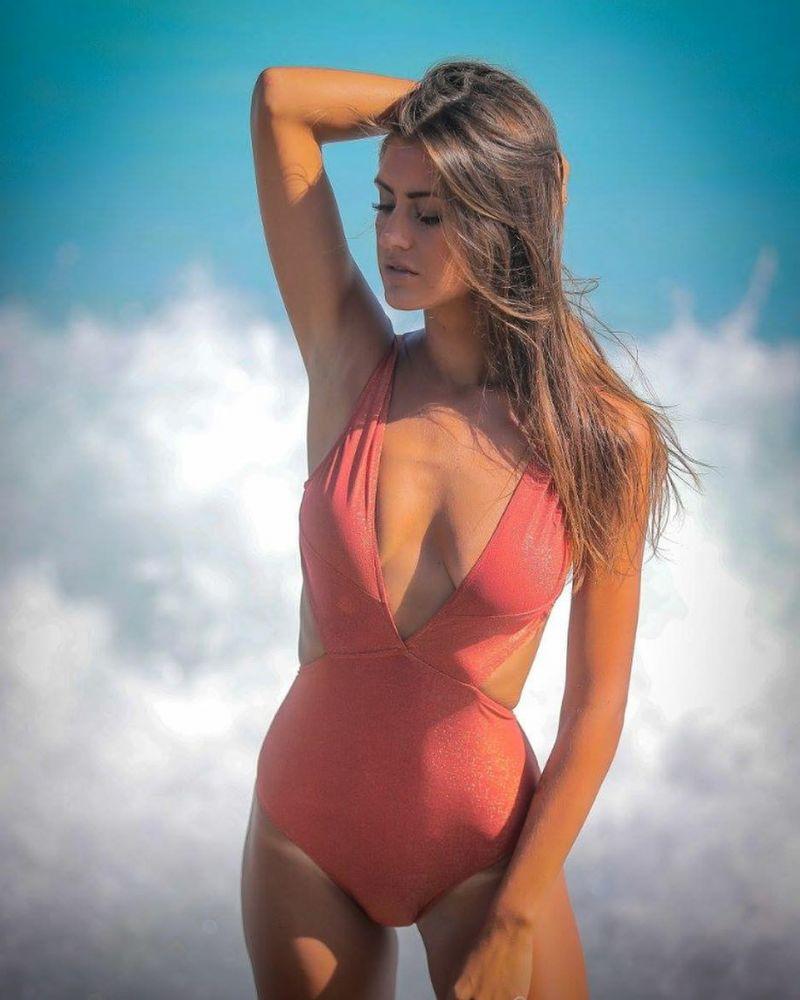 Persikorosa brasiliansk trikini med hög midja - TRIKINI OURO ROSA