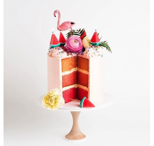 Set of 6 watermelon-shaped tealight candles - WATERMELON TEA LIGHTS