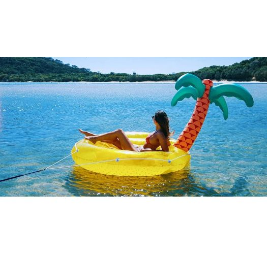 Inflatable drink holder - palm tree island - LUXE TWIN TROPICAL ISLAND