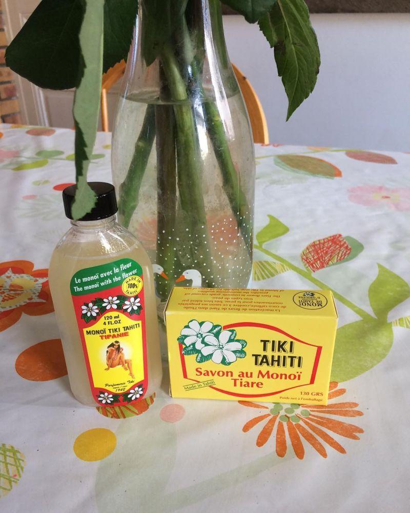 Taire blomdoftande grönsakstvål med 2% Monoi -  TIKI SAVON TIARE 130g