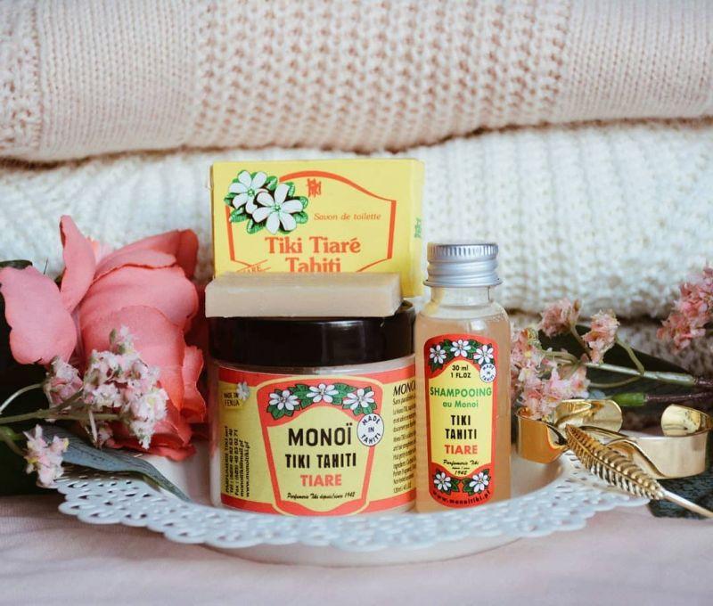 Monoi shampoo, tiare fragrance, travel size - SHAMPOING TIKI TIARE 30ml