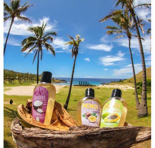 Passion fruitscented Tahiti monoï, tattooed bottle - MONOI GOURMAND FRUITS DE LA PASSION 125ML