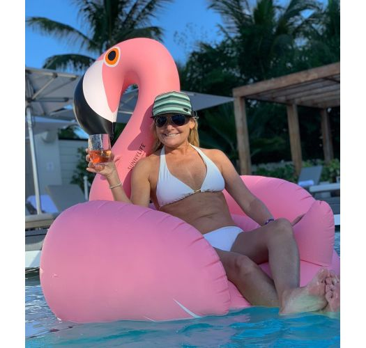 Pink flamingo adult rubber ring - LUXE FLAMINGO