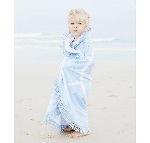 Child's round sea-themed beach towel - LITTLE CAPTAIN