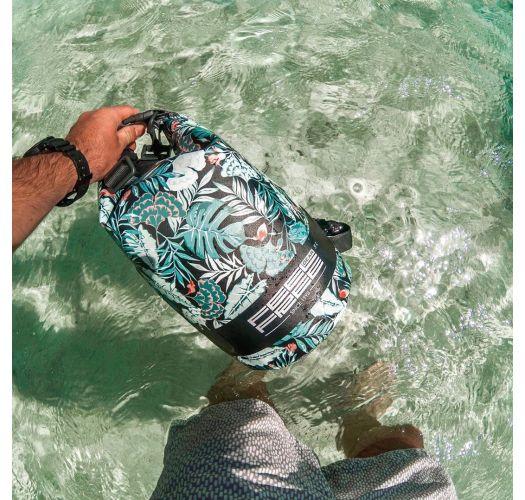 Tropical green waterproof bag 5 L - DRY TUBE 5L TROPICAL GREEN/GREY