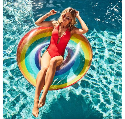 Large, round multicoloured 2-person pool float - FLOAT HAVANA
