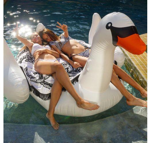 גלגל ים למבוגר בצורת ברבור לבן - LUXE SWAN WHITE