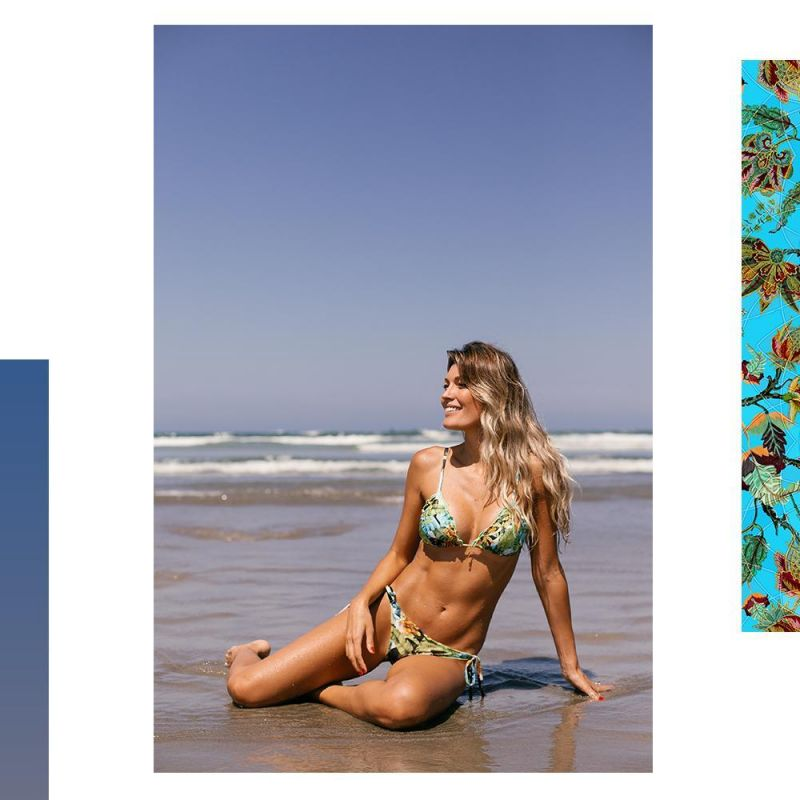 Brasiliansk skrynklad bikini med bananskals-tryck - FLIRT BANANA DA TERRA