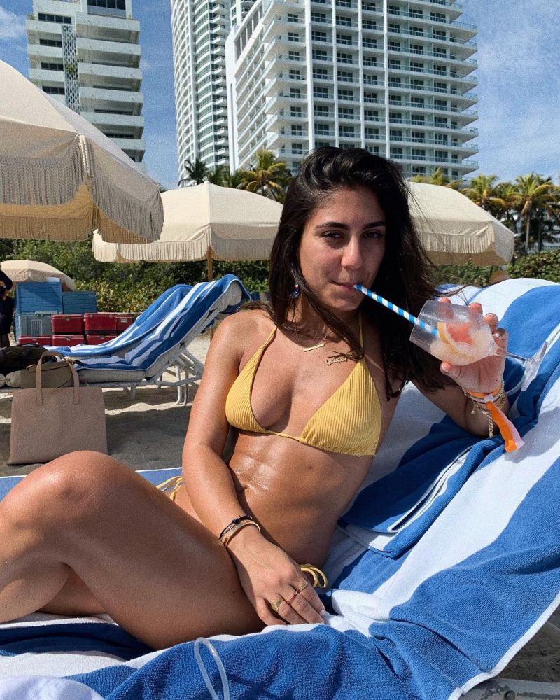Triangle yellow Brazilian bikini with scrunch bottom - SEAMLESS BANANA COSTA DEL SOL