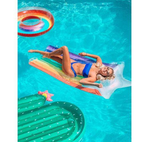 Erwachsenen-Schwimmboje, Stern und Regenbogen - LUXE LIE-ON FLOAT RAINBOW