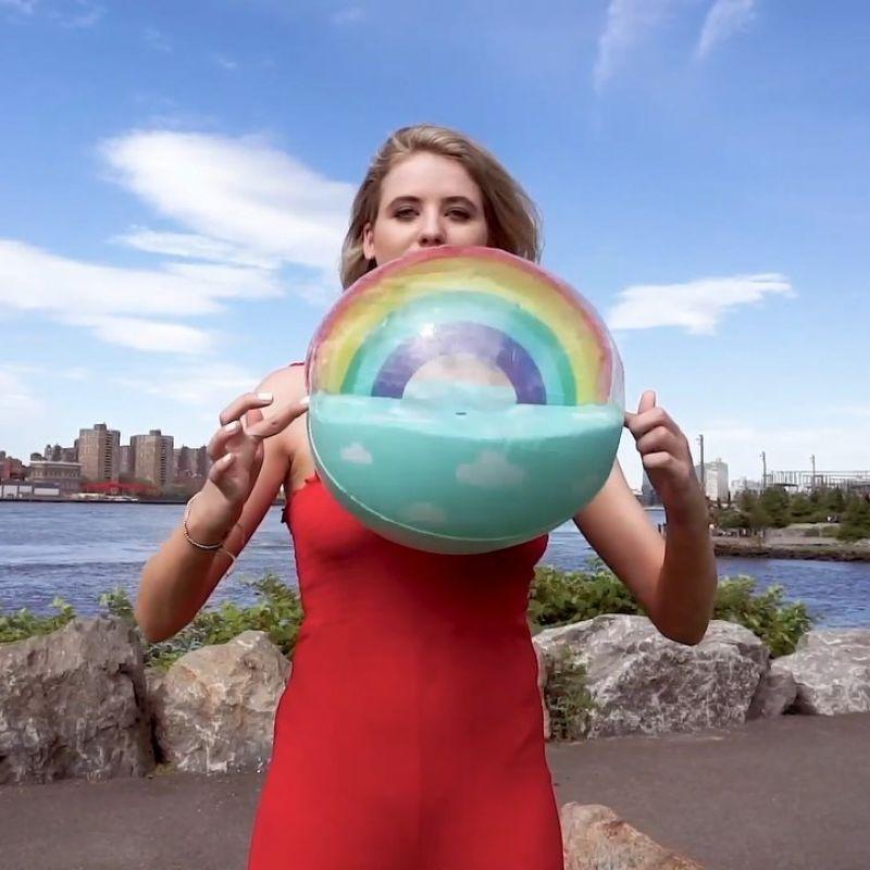 Inflatable ball with rainow - BALL XL RAINBOW