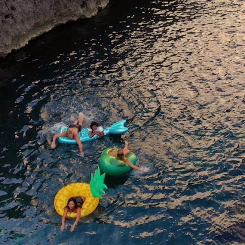 Lie-on adult buoy - mermaid tail shape - LUXE LIE-ON FLOAT MERMAID