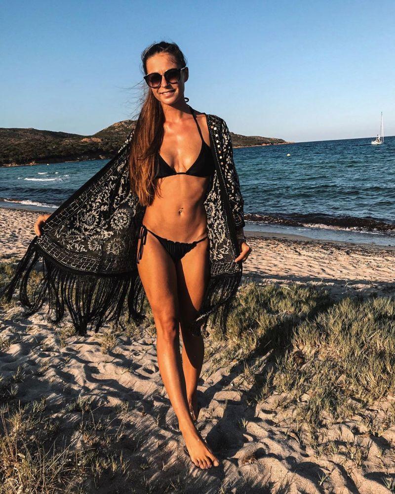 Triangle black Brazilian bikini with scrunch bottom - SEAMLESS MAR COSTA DEL SOL