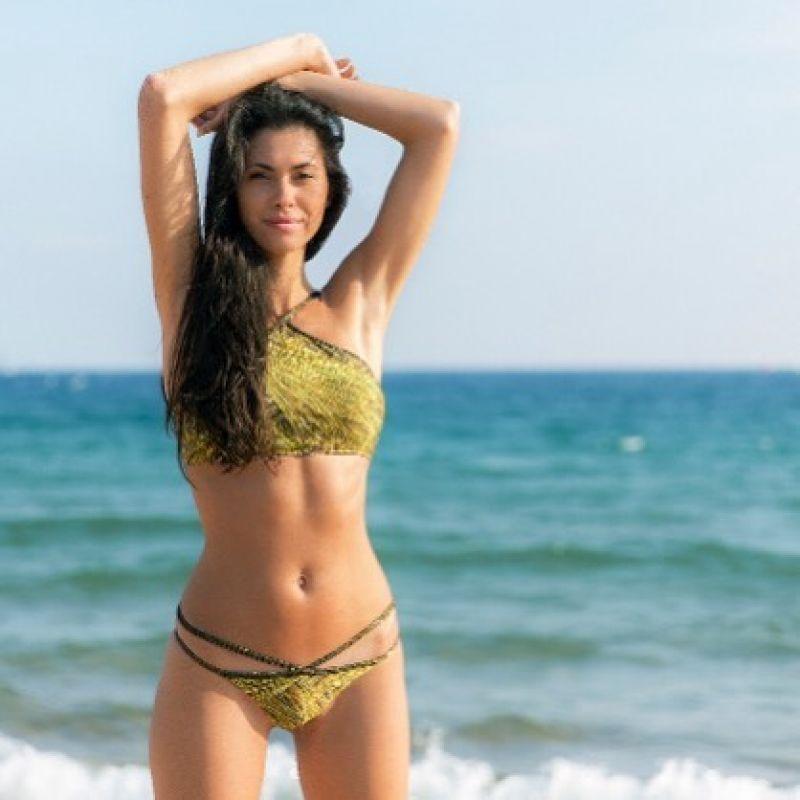 Gold crop bikini top with lurex straps - SOUTIEN CROPPED STRAPPY RELUZENTE