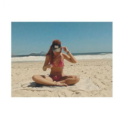 Bikini med scrunch, rosa lurex og bølgekanter - RADIANTE ROSA FRUFRU