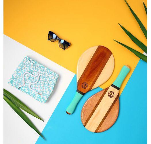 Ρακέτες θαλάσσης από ξύλο και νεοπρένιο σε μπλε χρώμα - TRANCOSO BEACH BAT BLUE