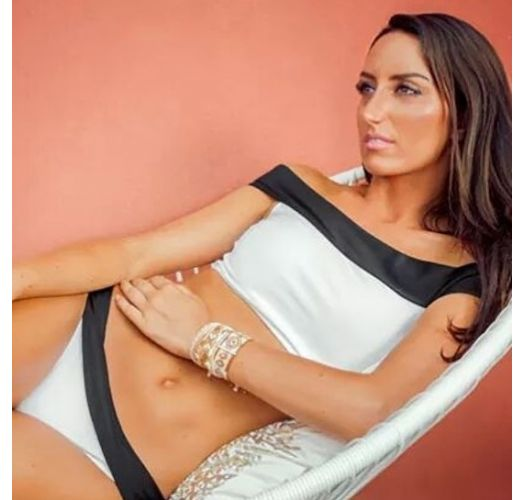 Bikini bandeau - BLACK AND WHITE
