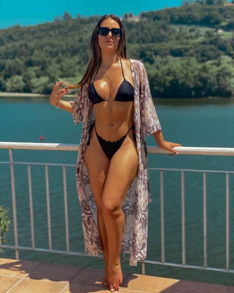Black string side-tie bikini bottom wavy edges - BOTTOM AMBRA PRETO EVA MICRO