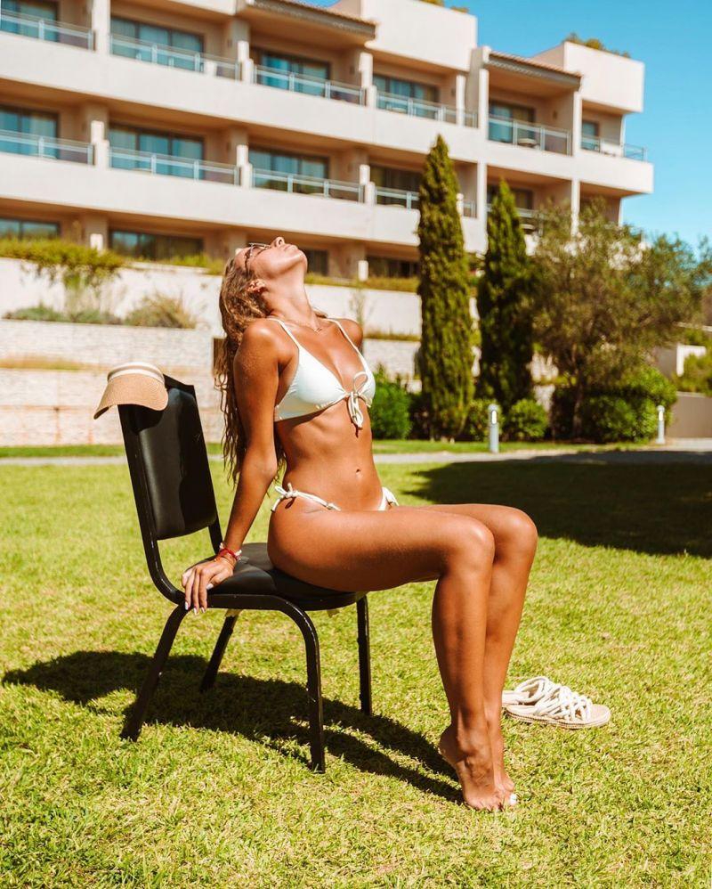 Mikro-Bikini in gebrochenem Weiß, verstellbar - PEROLA TRI ARG MICRO