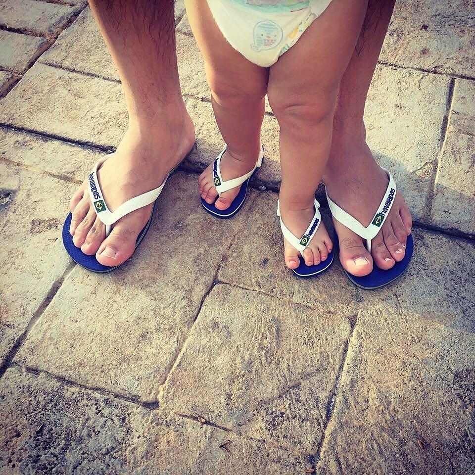 Havaianas HAV SLIM BRASIL LOGO Ladies Flip Flops Navy Blue