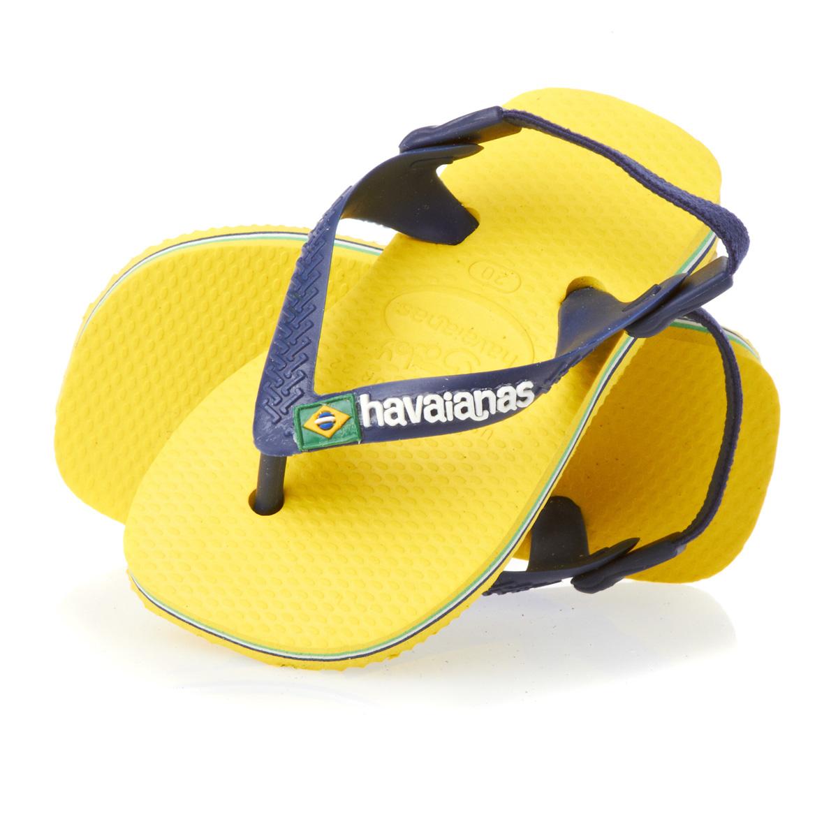 06c08f4ba56d Flip-Flops Flip-flops - Baby Brasil Logo Citrus Yellow