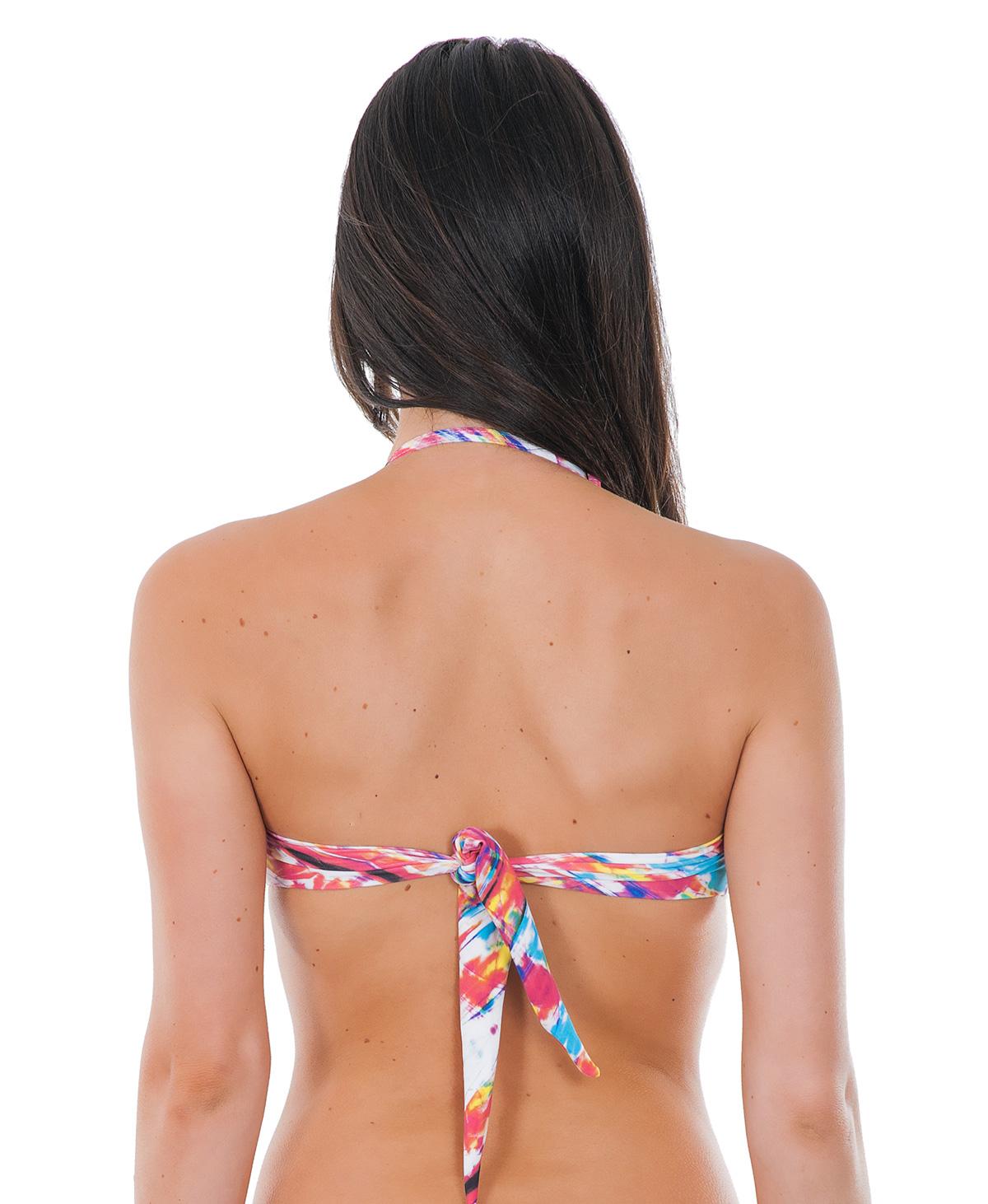 ... Bandeau-Bikinioberteil in Tie-and-Dye, mit Bügeln - SOUTIEN TIE DYE