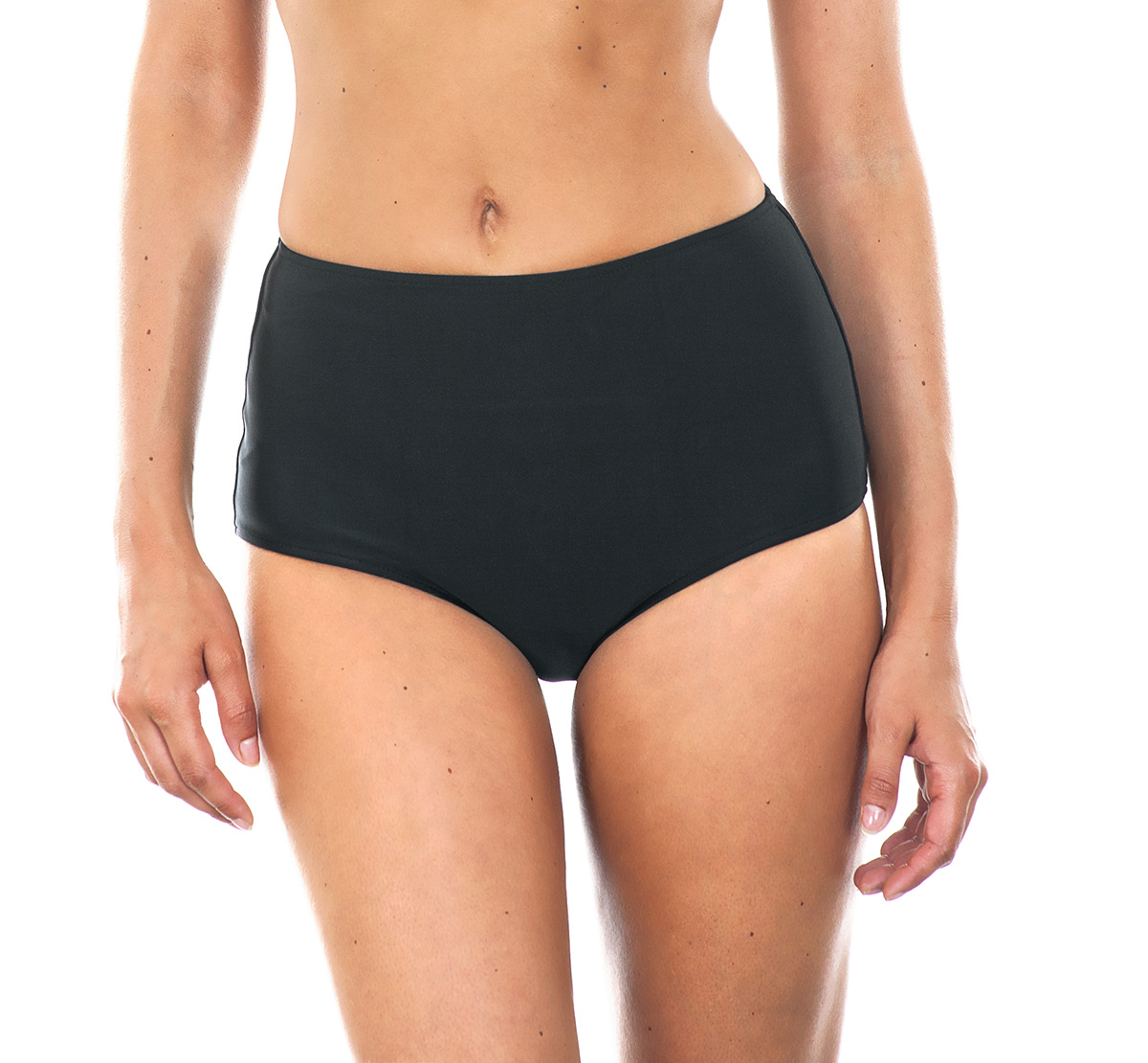 Populair BikiniBroekjes Zwarte Bikinibroek Met Hoge Taille - Calcinha Noiti XI75