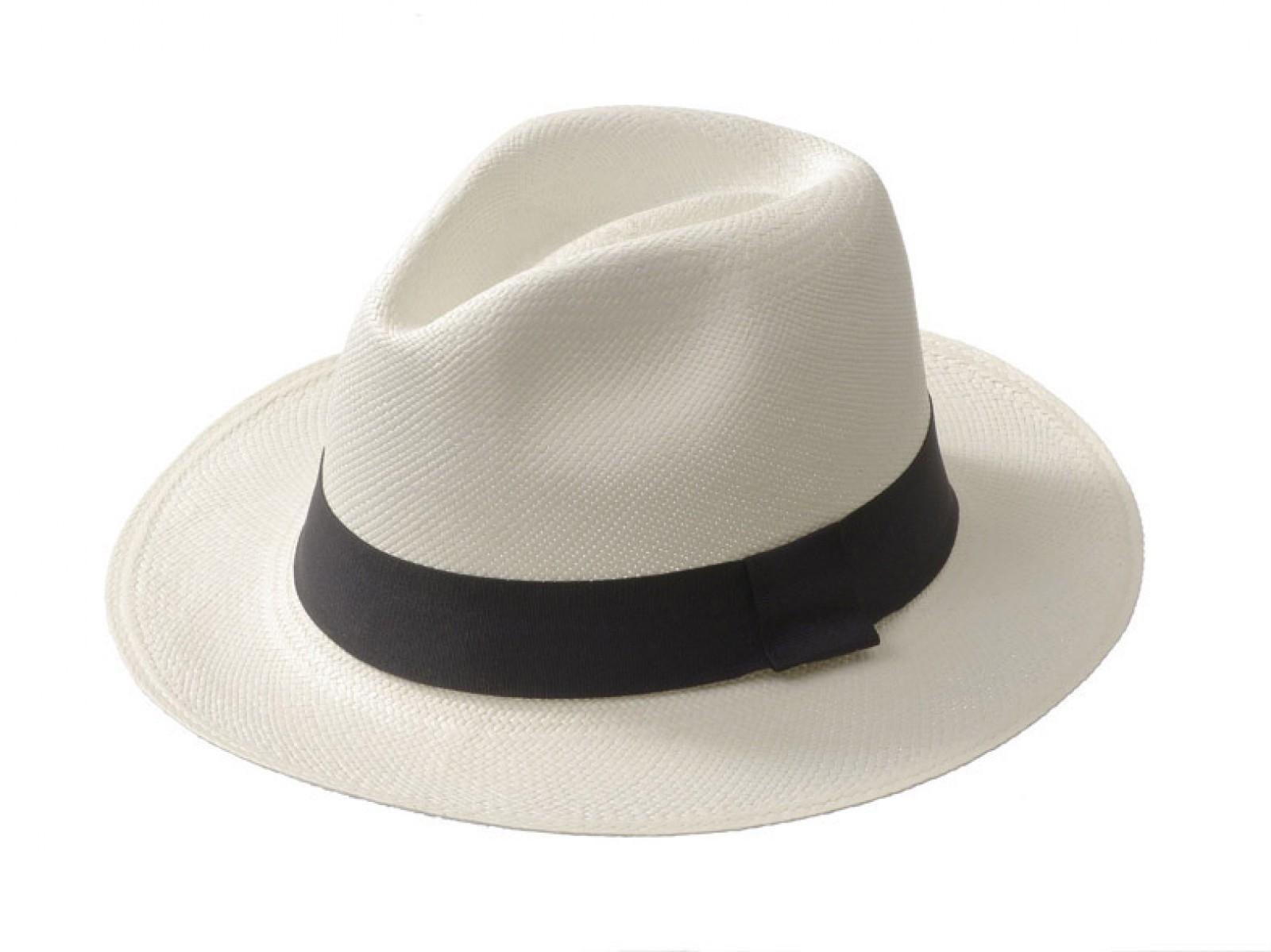 0e1a7f0f64aac Sombrero Sombrero Panamá - Classic Blanco - Marca De Punta En Blanco