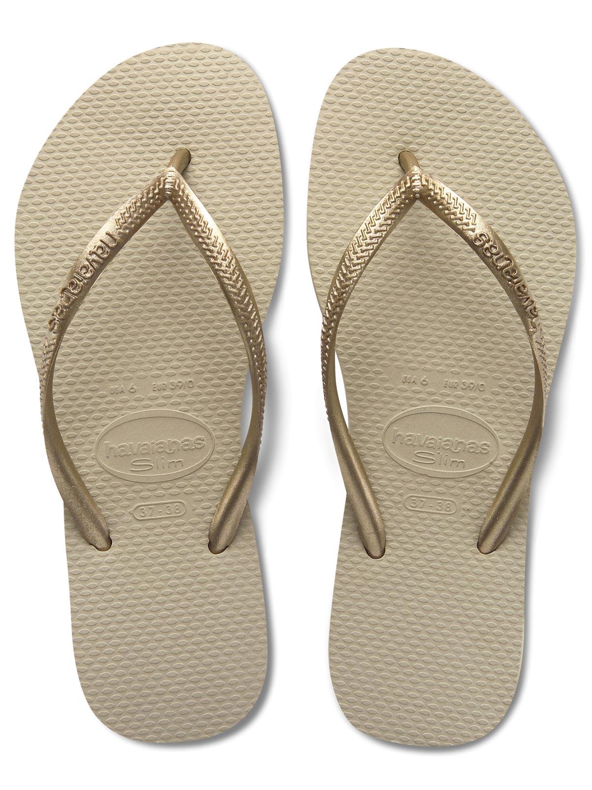 Flip Flops Slim Sand Grey Light Golden