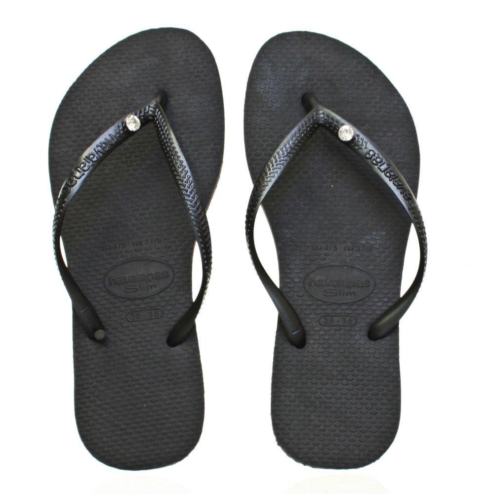 Flip-Flops Flip-Flops - Slim Crystal Glamour Sw Black-7356